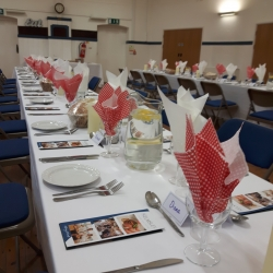 Main Hall Dinner set up